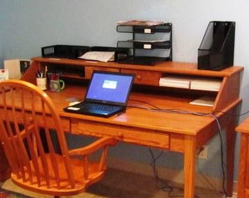 home desk after