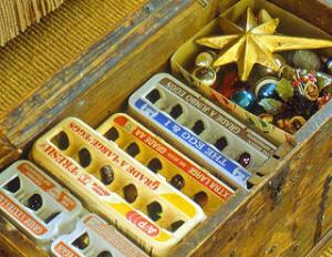 egg cartons Christmas decorations